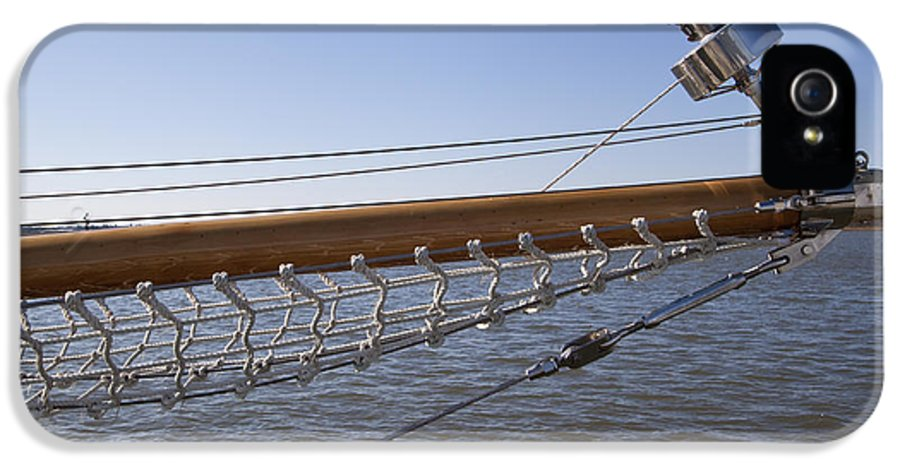 Sailboat IPhone 5 Case featuring the photograph Sailboat Bowsprit by Dustin K Ryan
