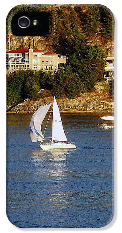 Sailboat IPhone 5 Case featuring the photograph Sailboat In Vancouver by Robert Meanor
