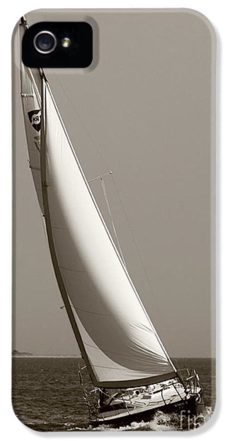 Sailboat IPhone 5 Case featuring the photograph Sailing Sailboat Sloop Beating To Windward by Dustin K Ryan