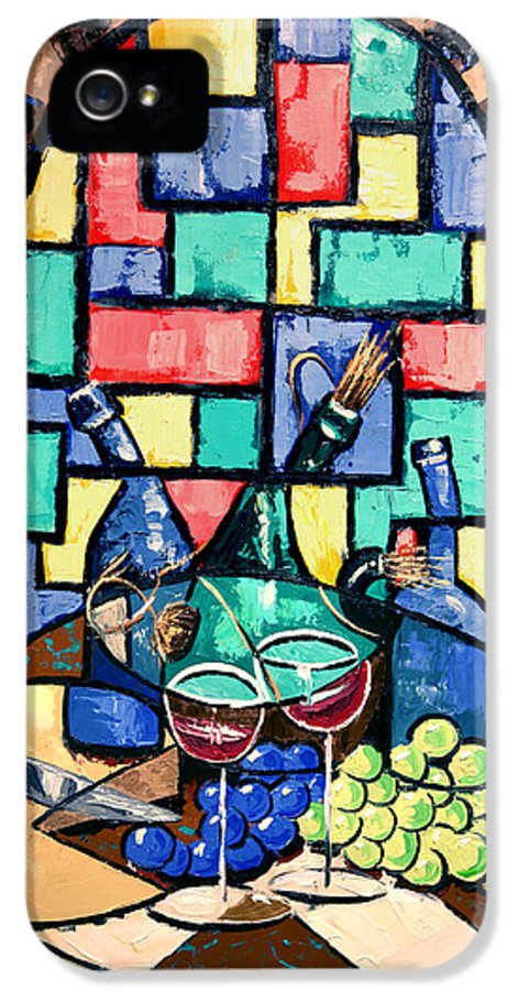 Salute Happy Hour In Tuscany Framed Prints IPhone 5 Case featuring the painting Salute Happy Hour In Tuscany by Anthony Falbo
