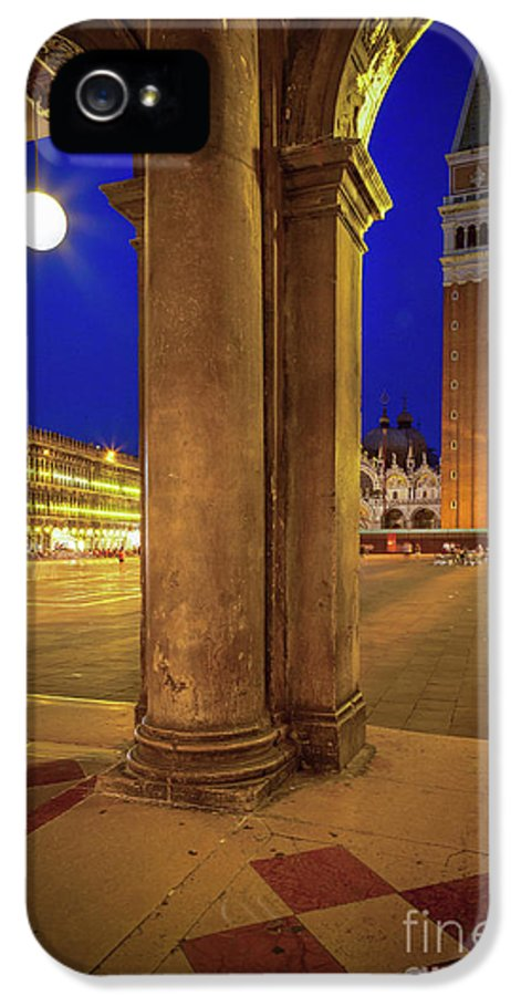 Europe IPhone 5 Case featuring the photograph San Marco At Night by Inge Johnsson