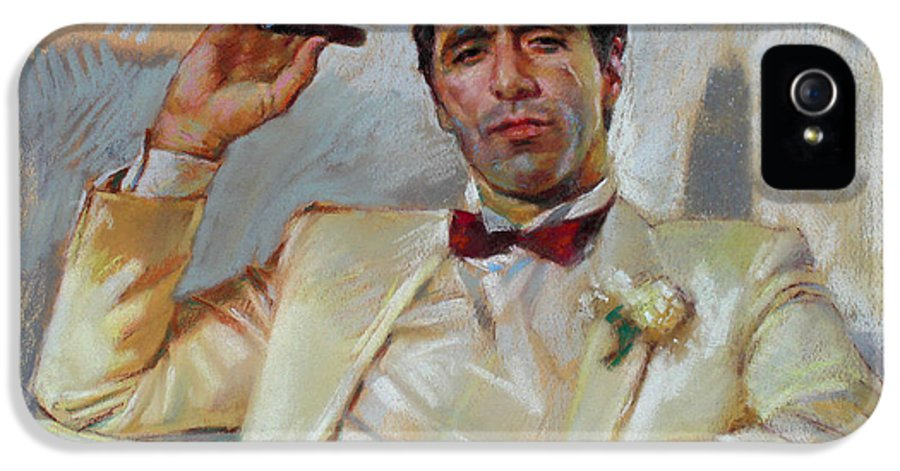 Scarface IPhone 5 Case featuring the pastel Scarface by Ylli Haruni