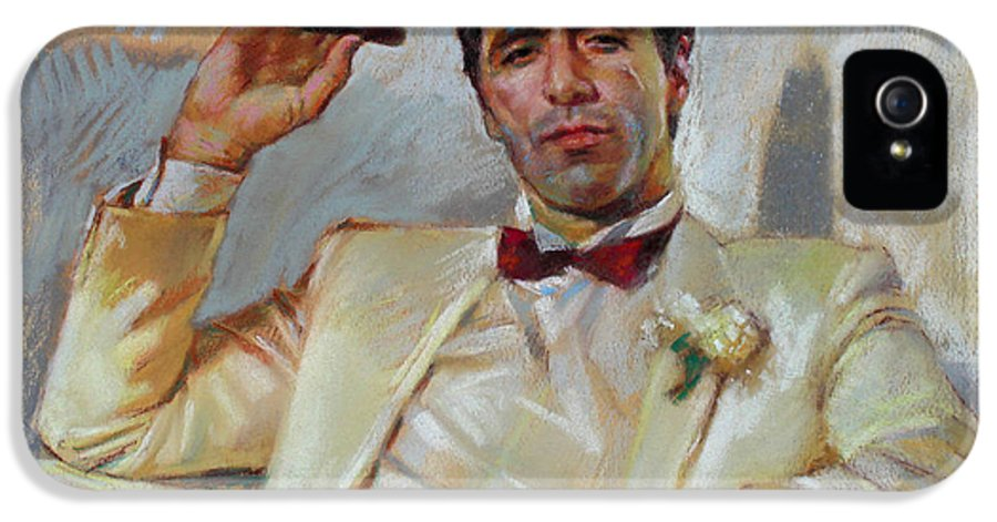 Scarface IPhone 5 / 5s Case featuring the pastel Scarface by Ylli Haruni