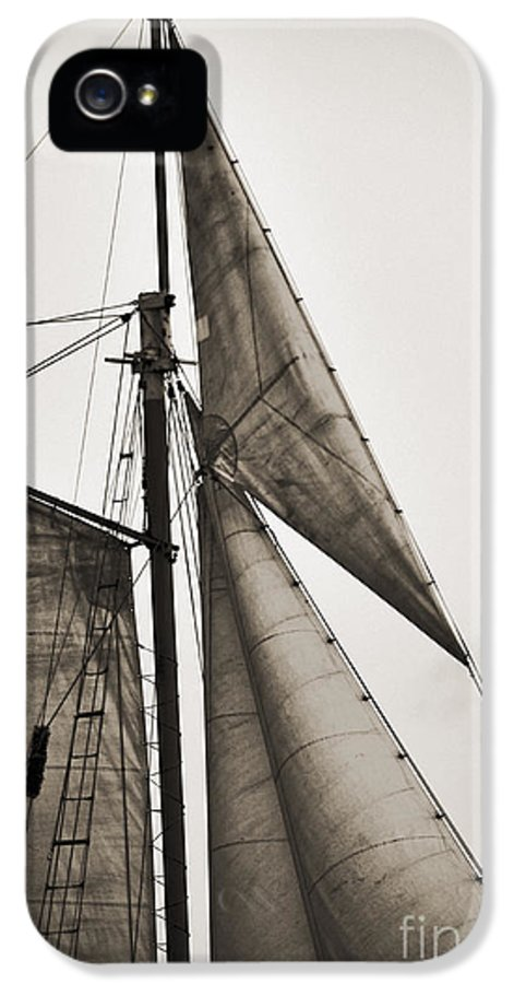 Tall Ship IPhone 5 Case featuring the photograph Schooner Pride Tall Ship Yankee Sail Charleston Sc by Dustin K Ryan