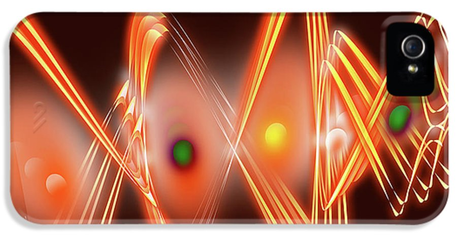 Abstract IPhone 5 Case featuring the digital art Science Fiction by Anthony Caruso