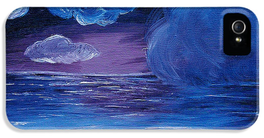 Sea IPhone 5 Case featuring the painting Sea Storm by Jera Sky