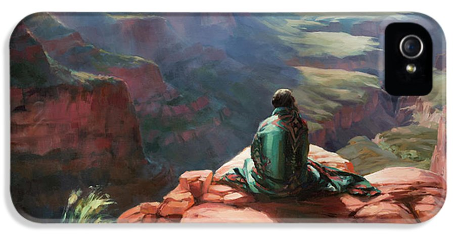 Southwest IPhone 5 Case featuring the painting Serenity by Steve Henderson