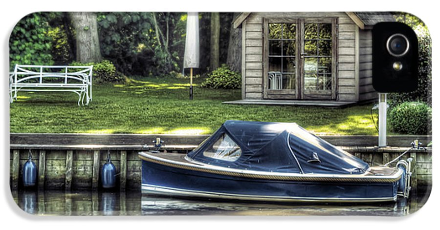 Boat IPhone 5 Case featuring the photograph Settling by Wim Lanclus