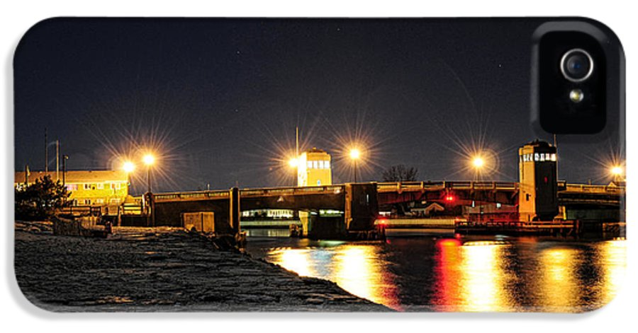 Shark IPhone 5 Case featuring the photograph Shark River Inlet At Night by Paul Ward