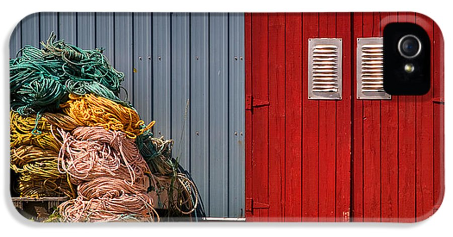 Travel IPhone 5 Case featuring the photograph Shed Doors And Tangled Nets by Louise Heusinkveld