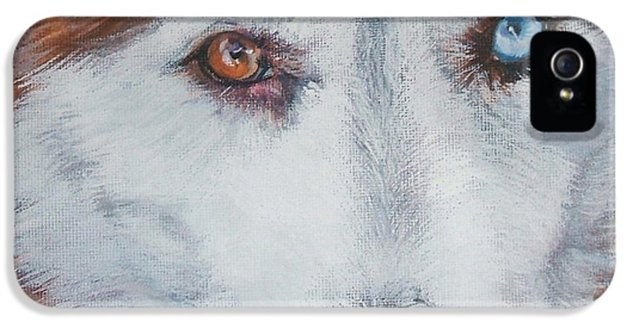 Siberian Husky IPhone 5 Case featuring the painting Siberian Husky Red by Lee Ann Shepard