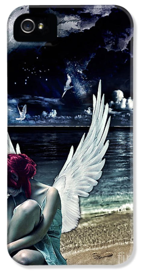 Silence Of An Angel IPhone 5 Case featuring the photograph Silence Of An Angel by Mo T
