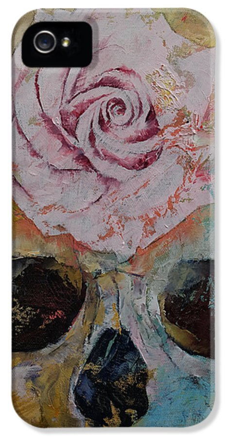 Art IPhone 5 Case featuring the painting Rose by Michael Creese