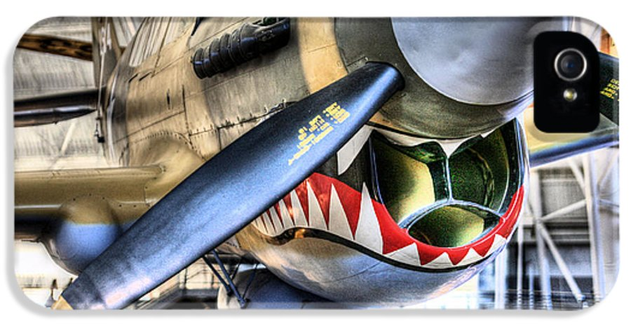 Smithsonian Air And Space Museum P-40 P 40 Warhawk Wwii World War Two 2 Ww Ii Flying Tigers Herndon Va Virginia Washington Dc P40 IPhone 5 Case featuring the photograph Smithsonian Air And Space by JC Findley