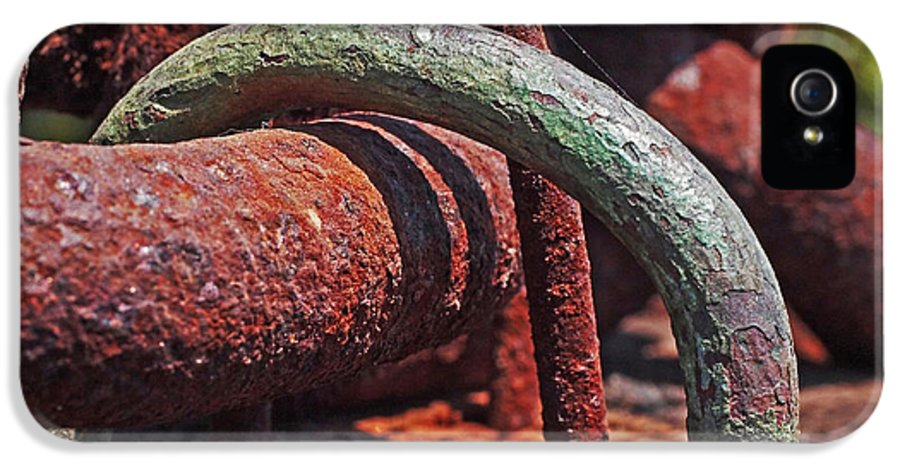 Rust IPhone 5 Case featuring the photograph Snaking Rust by Rona Black