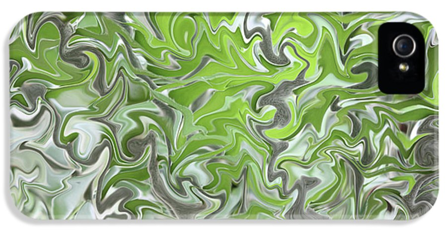 Abstract IPhone 5 Case featuring the photograph Soft Green And Gray Abstract by Carol Groenen