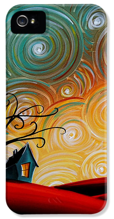 House IPhone 5 Case featuring the painting Songs Of The Night by Cindy Thornton