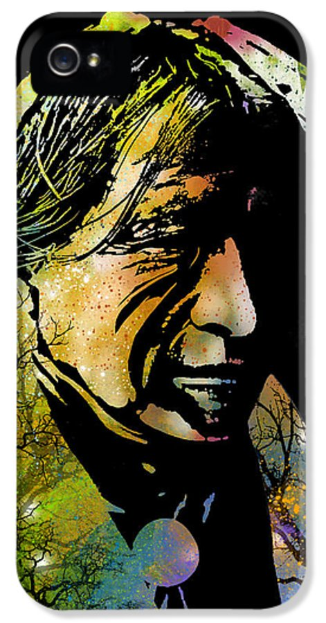 Native Americans IPhone 5 Case featuring the painting Spirit Of The Land by Paul Sachtleben