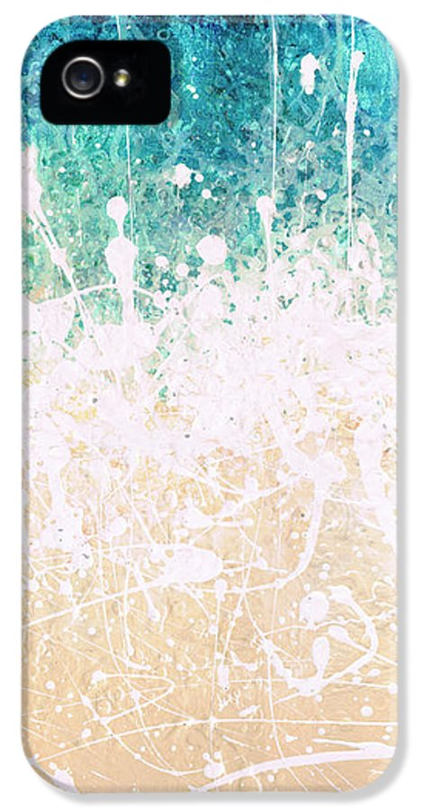Abstract IPhone 5 Case featuring the painting Splash by Jaison Cianelli