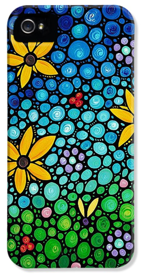 Floral IPhone 5 Case featuring the painting Spring Maidens by Sharon Cummings