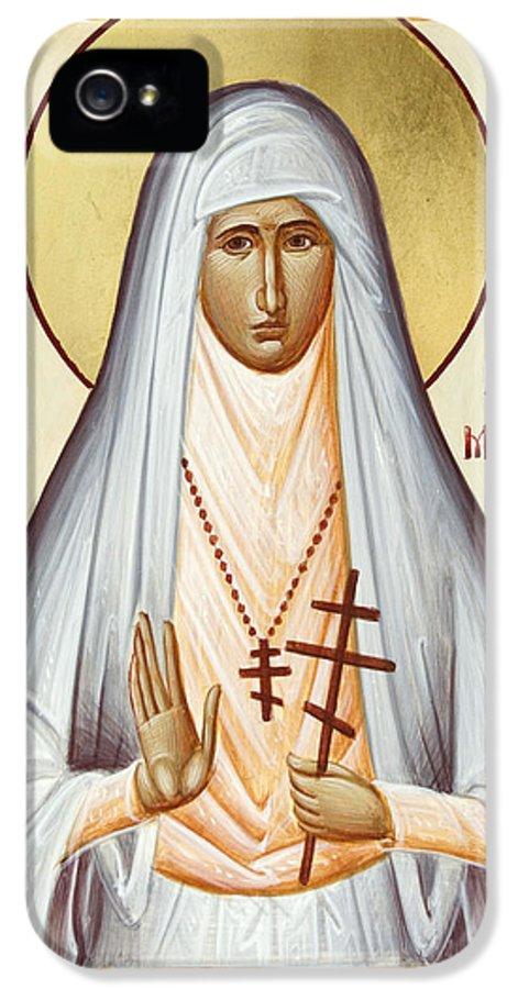 St Elizabeth The New Martyr IPhone 5 Case featuring the painting St Elizabeth The New Martyr by Julia Bridget Hayes
