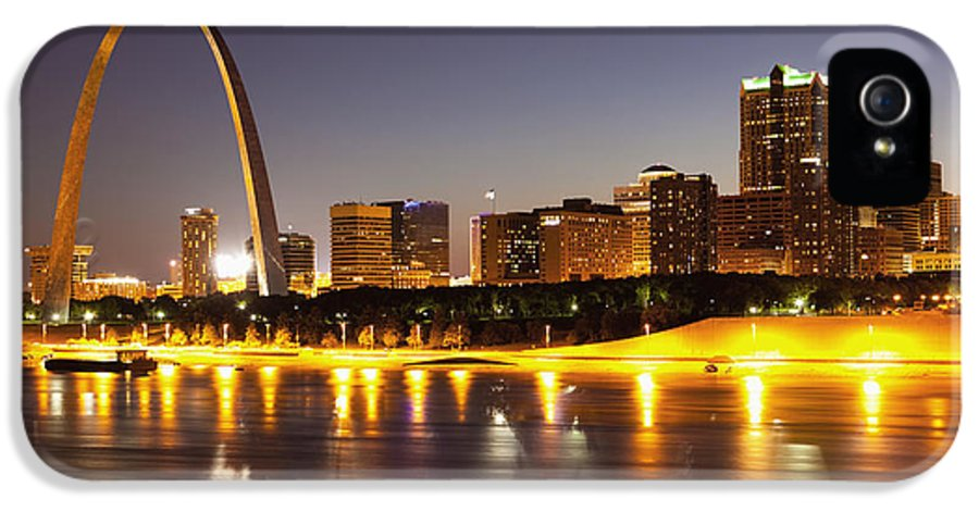 Arch IPhone 5 Case featuring the photograph St Louis Skyline by Bryan Mullennix