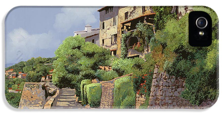 Landscape IPhone 5 Case featuring the painting St Paul De Vence by Guido Borelli