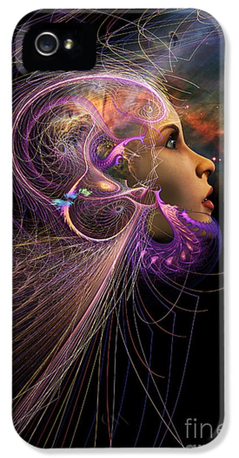 Starchild IPhone 5 Case featuring the digital art Starborn by John Edwards