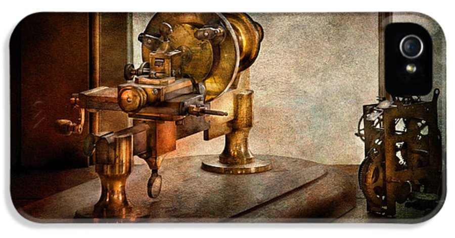 Hdr IPhone 5 Case featuring the photograph Steampunk - Gear Technology by Mike Savad