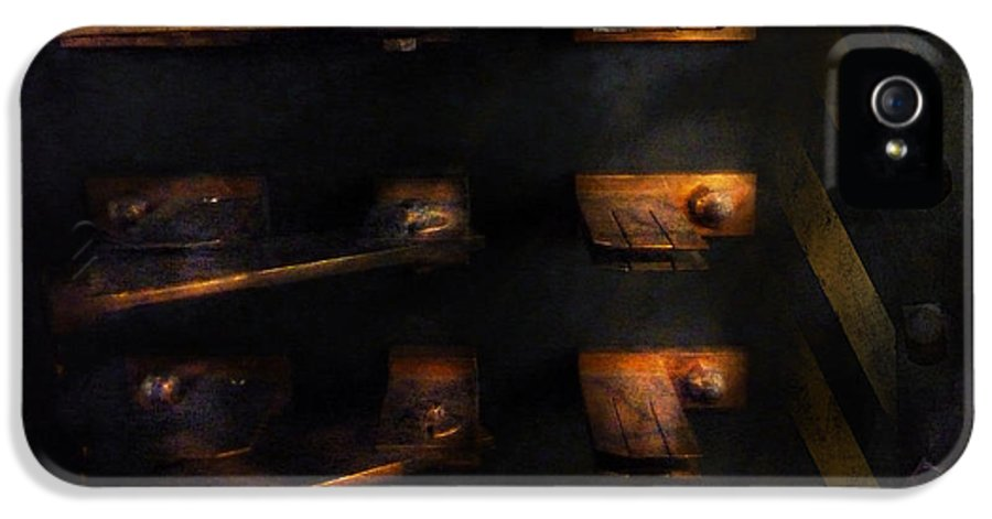 Hdr IPhone 5 Case featuring the photograph Steampunk - Pull The Switch by Mike Savad