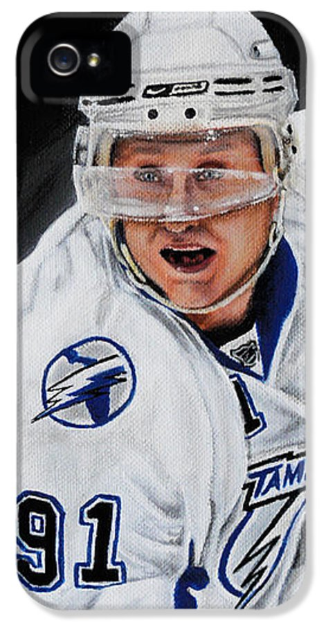 Nhl IPhone 5 Case featuring the painting Steven Stamkos by Marlon Huynh
