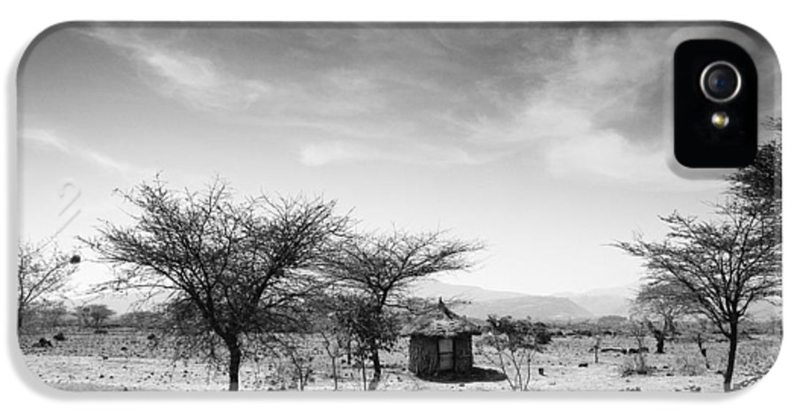 Nobody IPhone 5 Case featuring the photograph Stone Hut Set In Grassland Plains by David DuChemin