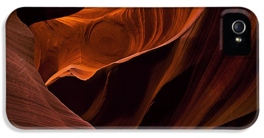 Antelope Canyon IPhone 5 Case featuring the photograph Stone Shadows by Mike Dawson