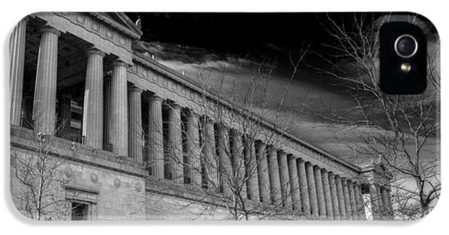 Soldier Field IPhone 5 Case featuring the photograph Stormy Soldier by David Bearden