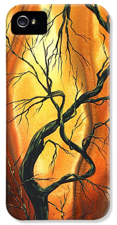 Abstract IPhone 5 Case featuring the painting Striving To Be The Best By Madart by Megan Duncanson