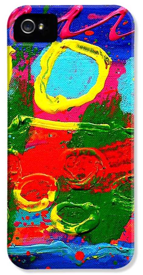 Acrylic IPhone 5 Case featuring the painting Sub Aqua IIi - Triptych by John Nolan