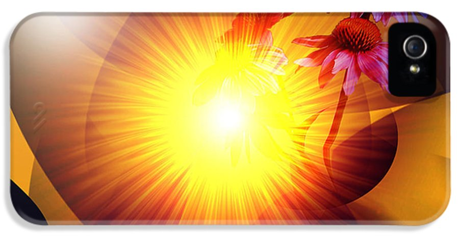 Solstice IPhone 5 Case featuring the digital art Summer Solstice II by Patricia Motley