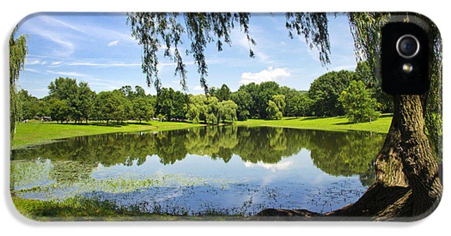 Binghamton IPhone 5 / 5s Case featuring the photograph Summertime At Otsiningo Park by Christina Rollo