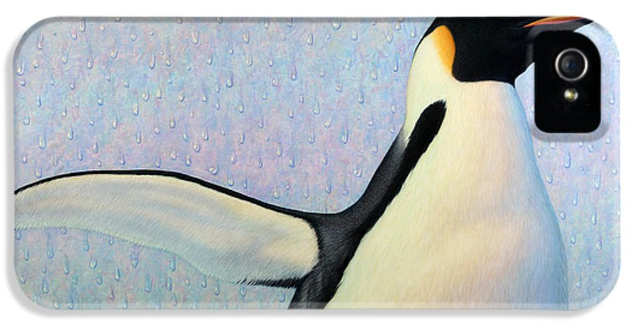 Penguin IPhone 5 Case featuring the painting Summertime by James W Johnson
