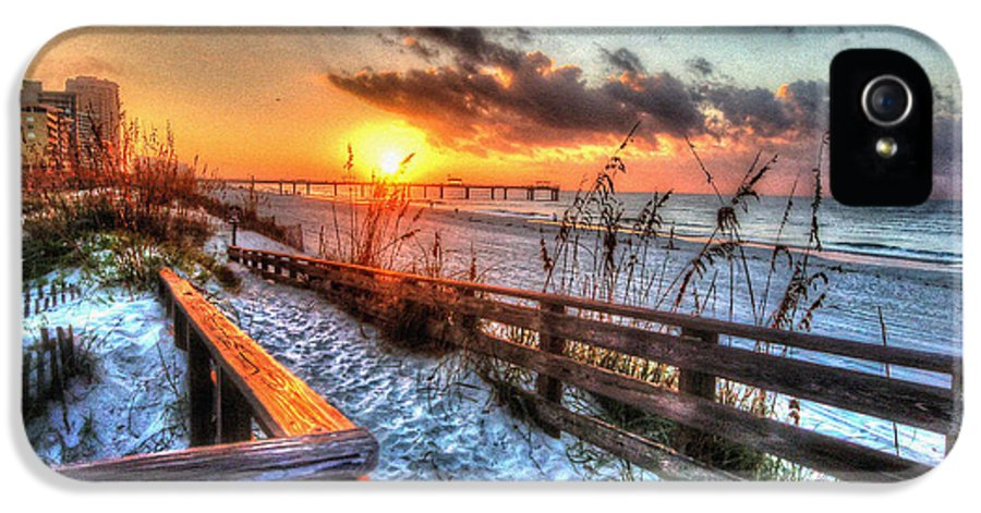 Alabama Photographer IPhone 5 Case featuring the digital art Sunrise At Cotton Bayou by Michael Thomas