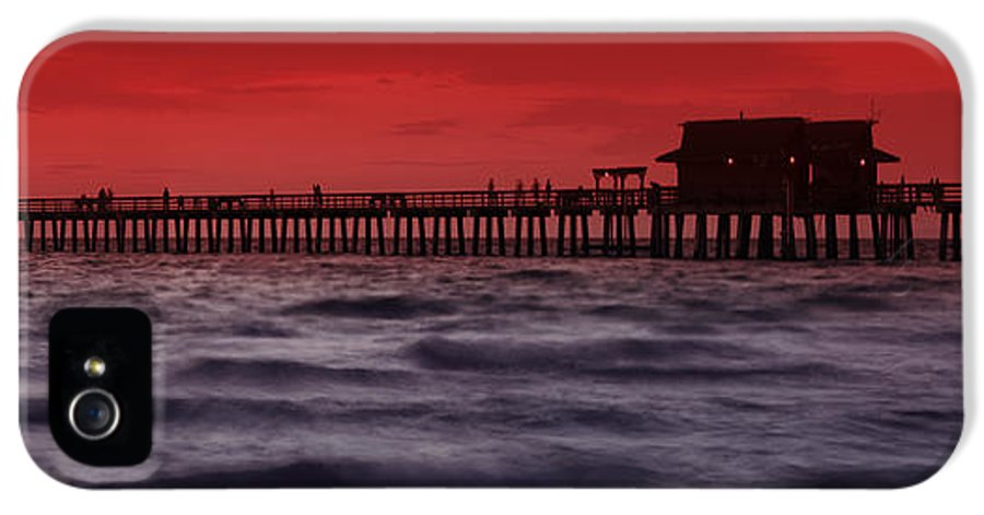 Usa IPhone 5 Case featuring the photograph Sunset At Naples Pier by Melanie Viola