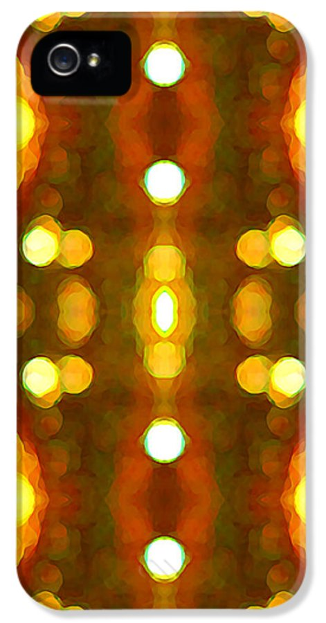 Abstract IPhone 5 Case featuring the painting Sunset Glow 2 by Amy Vangsgard