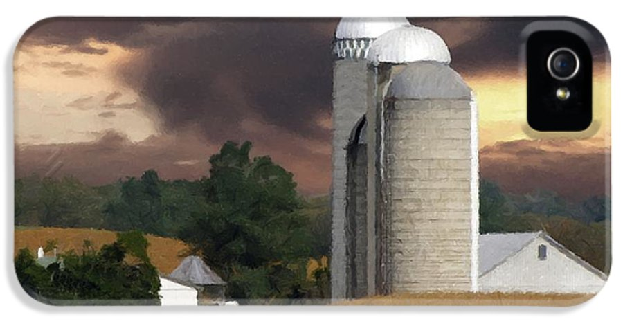 Farm IPhone 5 Case featuring the photograph Sunset On The Farm by David Dehner