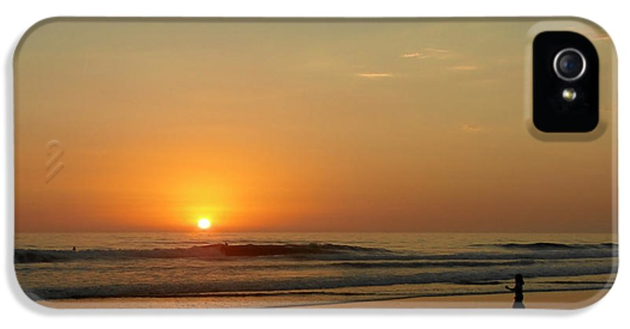 Pacific IPhone 5 Case featuring the photograph Sunset Over La Jolla Shores by Christine Till