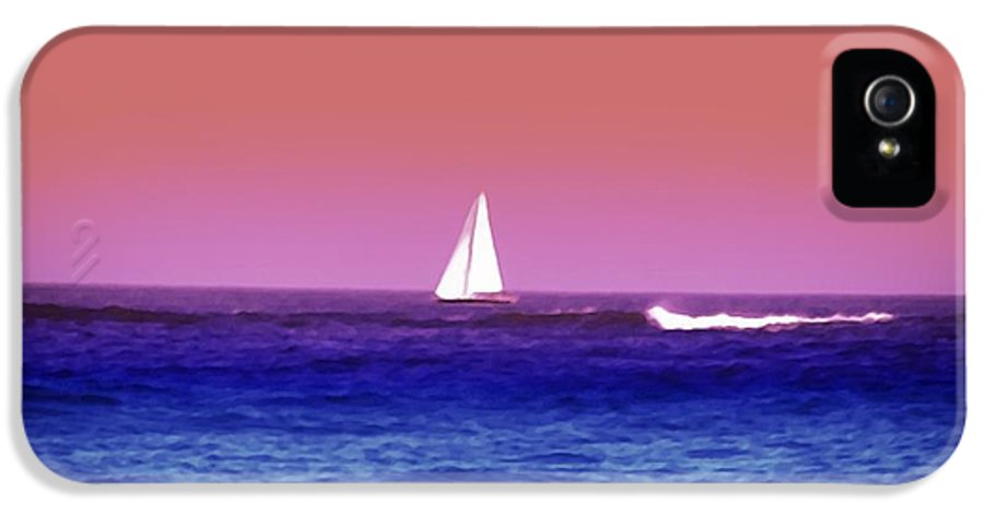 Sunset IPhone 5 Case featuring the photograph Sunset Sailboat by Bill Cannon