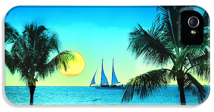 Sailboat IPhone 5 Case featuring the photograph Sunset Sailor by Bill Cannon