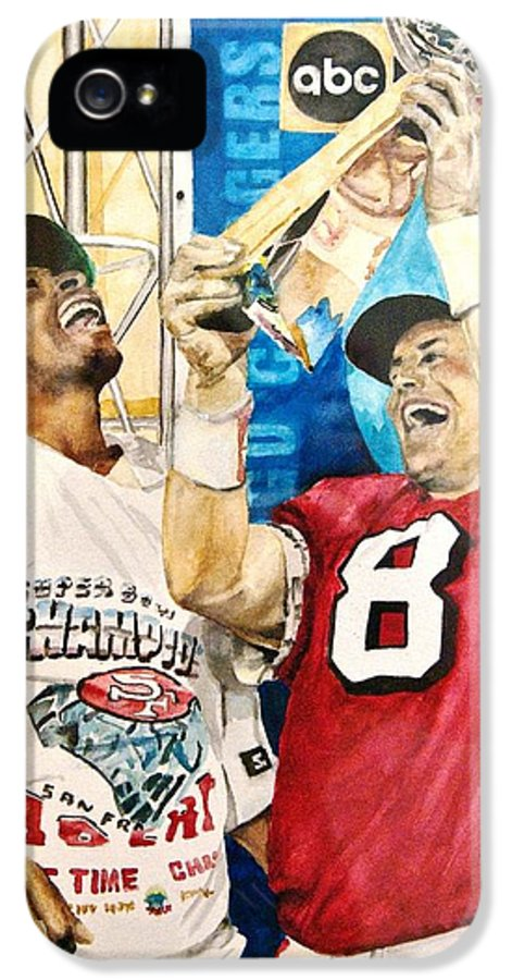 Super Bowl IPhone 5 Case featuring the painting Super Bowl Legends by Lance Gebhardt