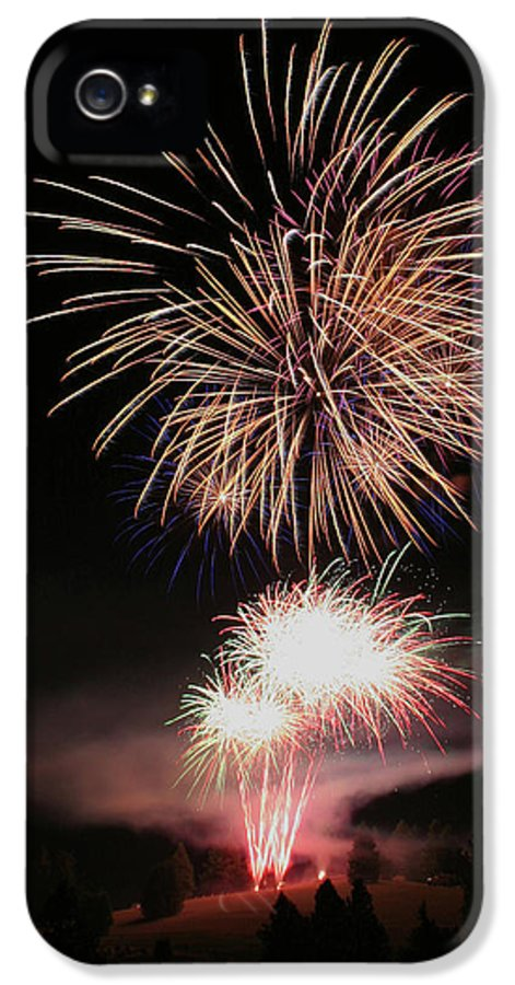 Fireworks IPhone 5 Case featuring the photograph Surrealistic Hillside by David Patterson