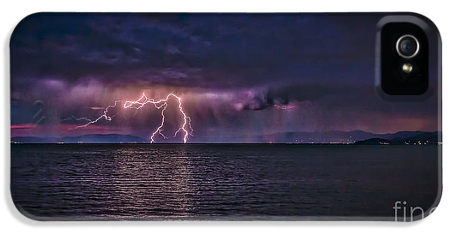 Tahoe Lightning IPhone 5 Case featuring the photograph Tahoe Lightning by Mitch Shindelbower