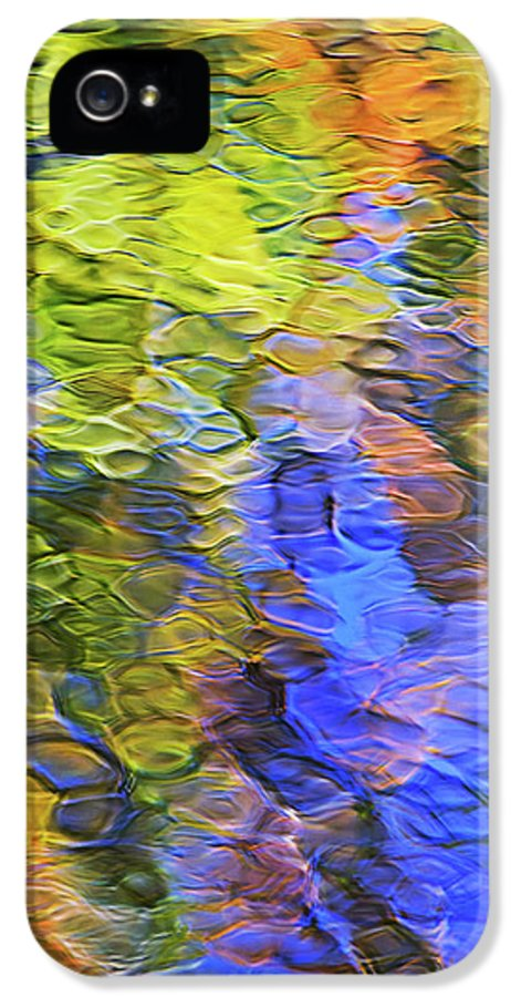 Abstract IPhone 5 Case featuring the photograph Tangerine Twist Mosaic Abstract Art by Christina Rollo